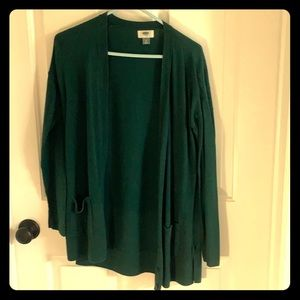 Old Navy green cardigan - medium